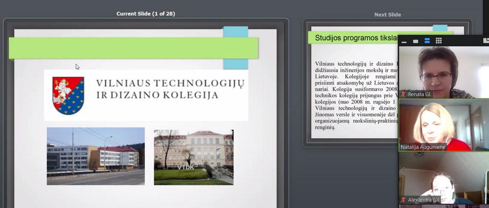 Studijos Vilniaus technologijų ir dizaino kolegijoje