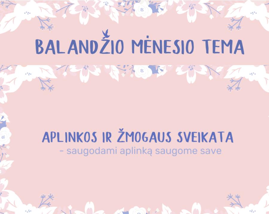 Vilnius sveikiau. Balandis